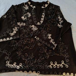 Decorative tunic blouse